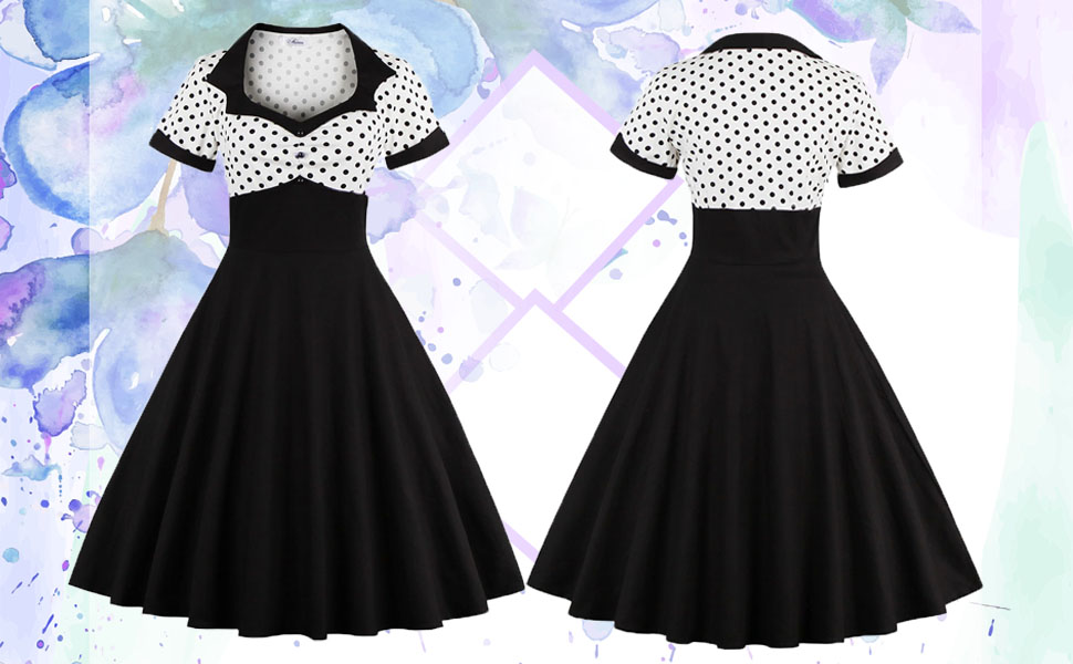 64af3e132 Women s 1950s Polka Dot Womens Polka Dot Dresses Polka Dots Vintage Ball  Prom Dres Vintage Ball