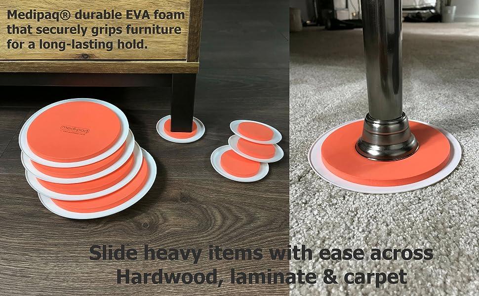 The Super Furniture Sliders Genuine Original Orange Discs