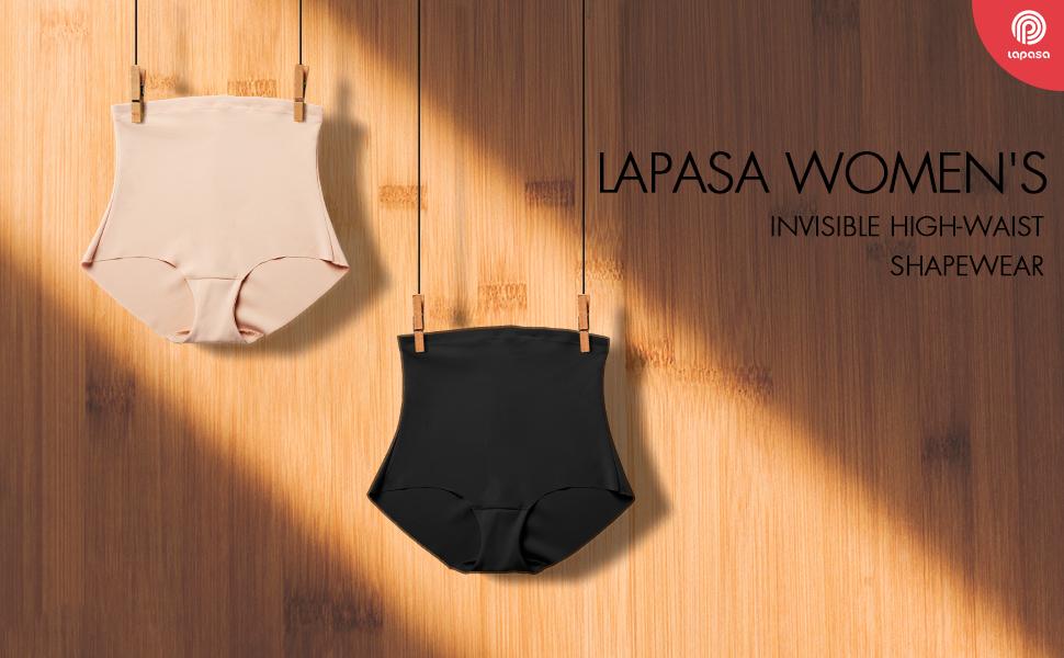 824aa184a LAPASA Women s Invisible No Show Body Shaper Underwear L12. high waist  shapewear
