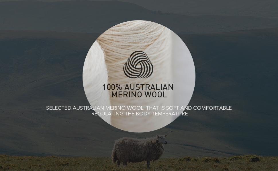 100% AUSTRALIAN MERINO WOOL