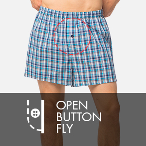 Open button fly