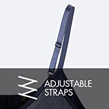 You can adjust the straps accordingly and the soft straps wont cause any irritation.