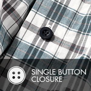 SINGLE BUTTON CLOSURE