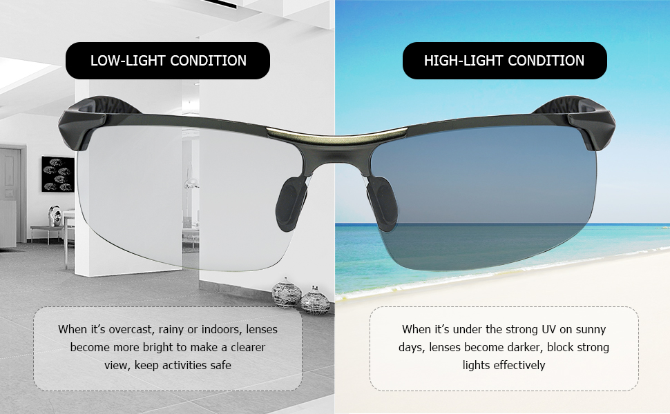 Photochromic Effect in Different Light Conditions