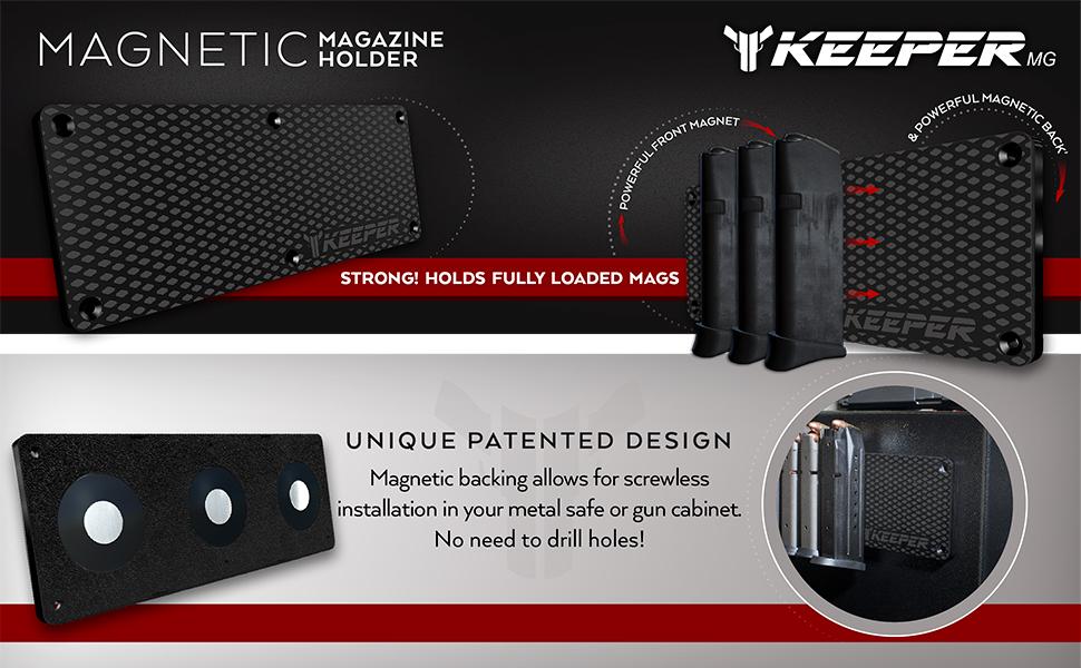Amazon KEEPER MG Magnetic Ammunition Holder For Gun Magazines Mesmerizing Gun Safe Magnetic Magazine Holder