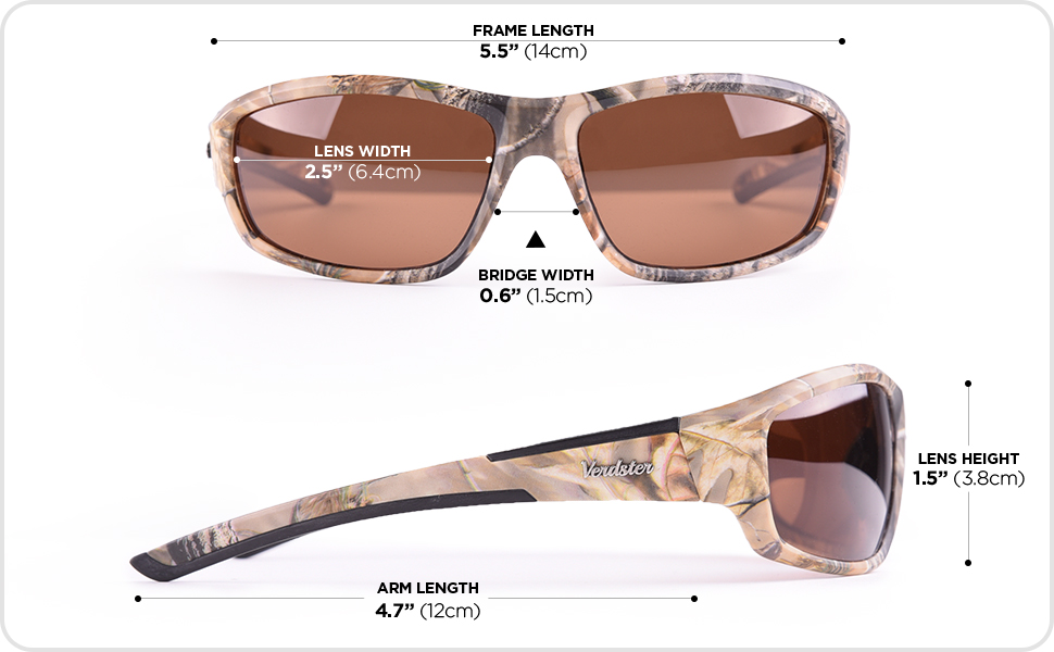 polarized sunglasses UV Protection Brown Camouflage Pattern Sun Glasses with Amber Lenses fishing