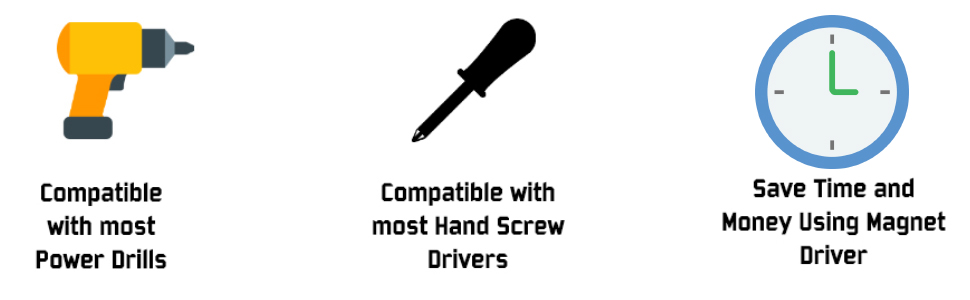 power drill hand screw driver time money