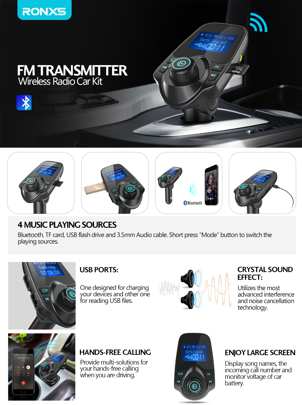 Fm Transmitter Ronxs Bluetooth Wireless This Tx Is About The Simplest And Most Basic Smartphones Could Be Connected To Through Then Streamed