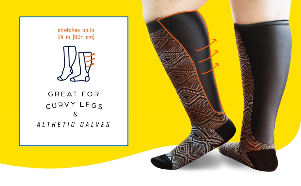00ac699189 Xpandasox are innovative, latex-free socks that stretch up to 24 in (60+  cm).