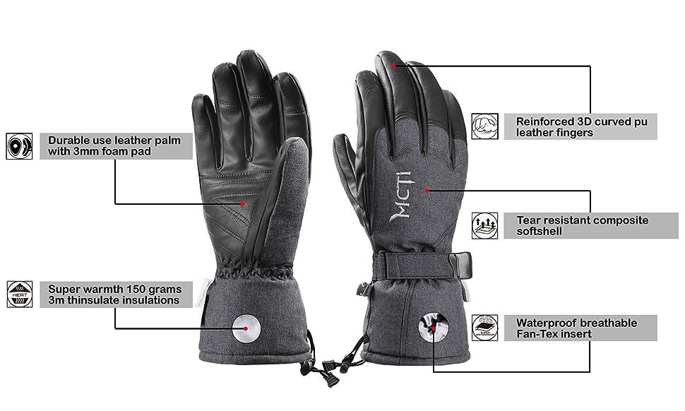 Guantes de esqu/í impermeables de invierno c/álidos guantes de snowboard fr/íos guantes de pantalla t/áctil para deportes al aire libre hombres mujeres