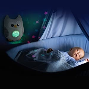Bubzi Co Baby & Toddler White Noise Sound Machine Sleep Aid Night Light. New Baby Gift, Baby Essentials Woodland Owl Decor Nursery & Portable Soother ...