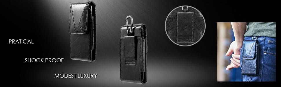 vertical leather wallet case for men
