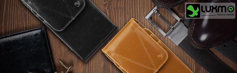 Belt clip leather case