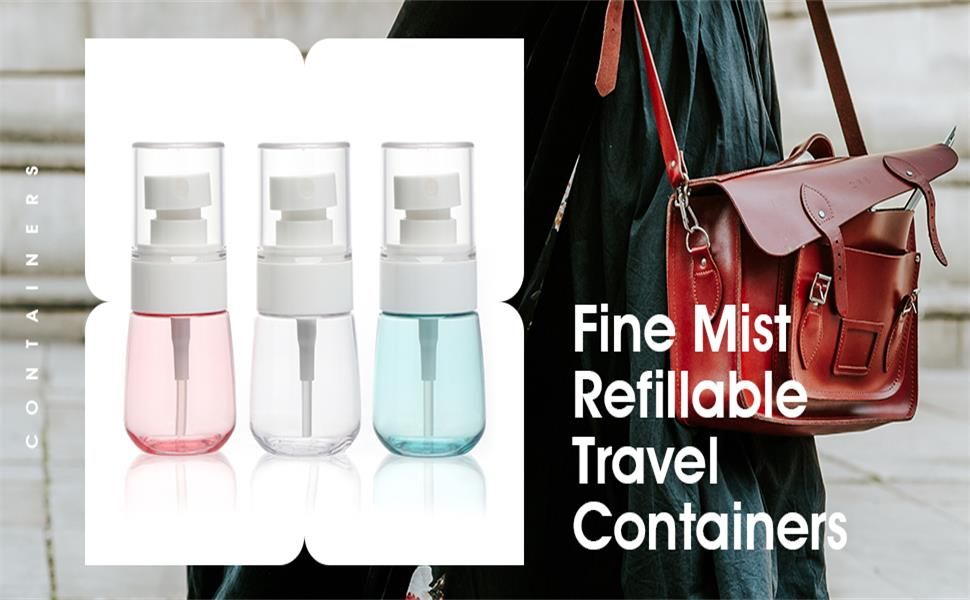 fine mist refillable travel containers
