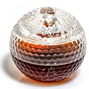 Glass Golf Ball Liquor Decanter Whiskey Glass
