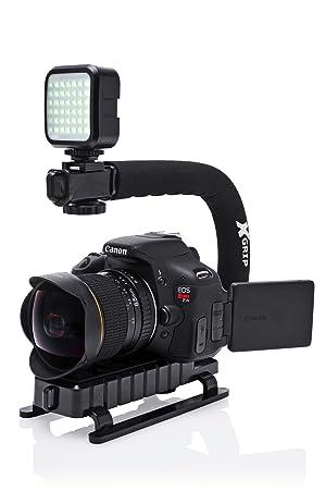 Vertical Shoe Mount Stabilizer Handle Pro Video Stabilizing Handle Grip for FinePix AX355 FujiFilm FinePix AX350