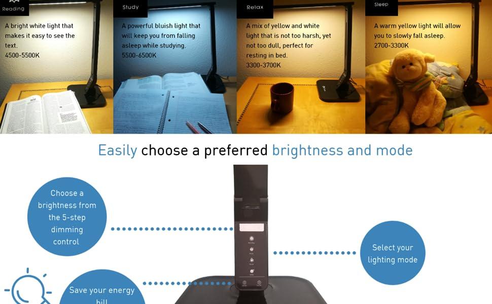 4 lighting mode and smart control