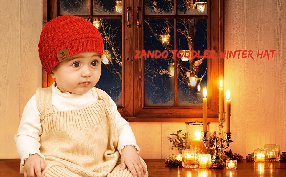 Zando Kids Baby Toddler Ribbed Knit Children Winter Hats