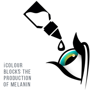 icolour blocks the production of melanin change eye color with eye drops semi permanent make lighter