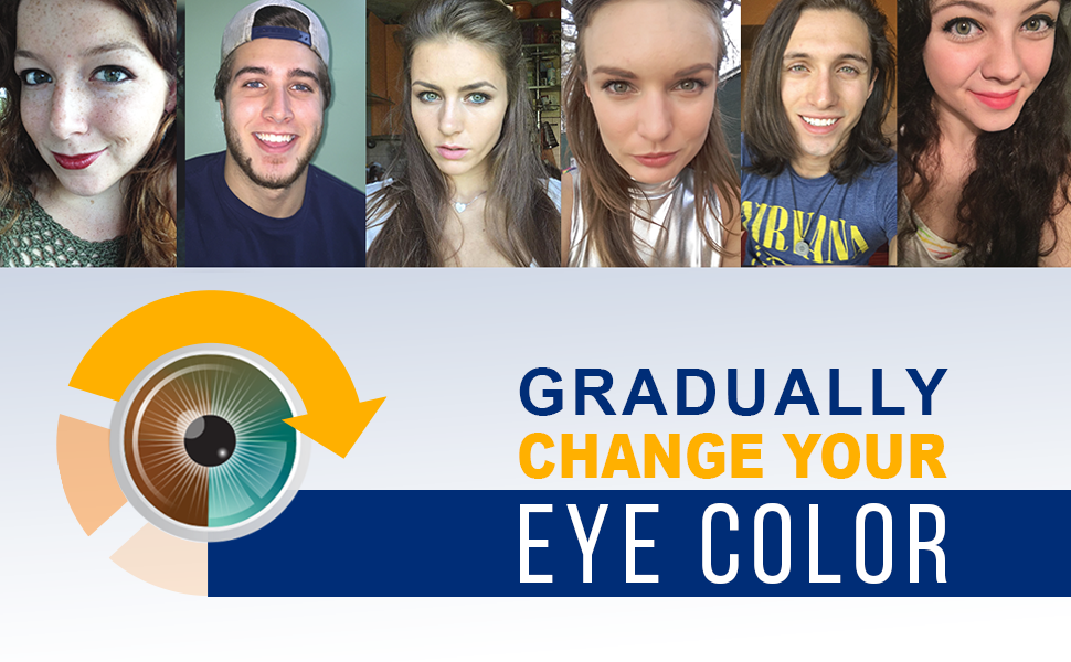 iCOLOUR Color Changing Eye Drops - Change Your Eye Color Naturally - 1  Month Supply - 9 mL (Hazel)
