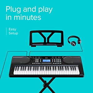 Complete RIF6 keyboard package with stand, digital piano and headphones
