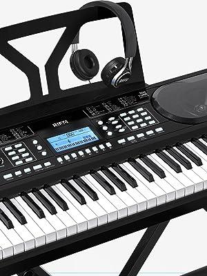 RIF6 61-Key Electronic Keyboard with Headphones