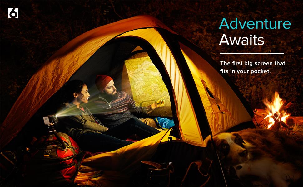 RIF6 Mini Projector Portable Camping Movie