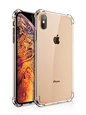 28cda90fe9 Amazon.com: GVIEWIN Crystal Clear iPhone Xs Max Case, Soft TPU Cover ...