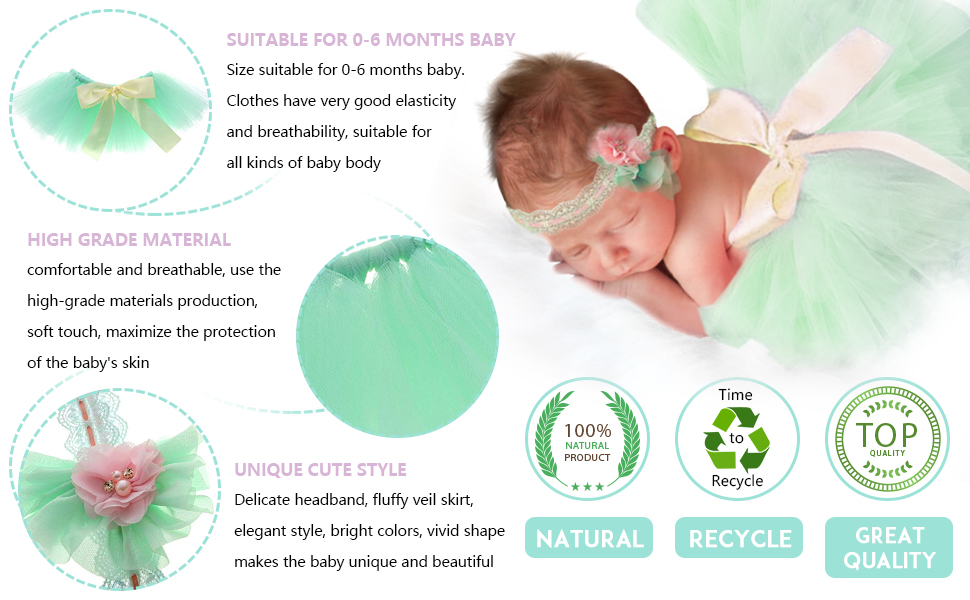 046030d87216 Amazon.com  Newborn Girl Photography Outfits - Baby Photo Props Tutu ...