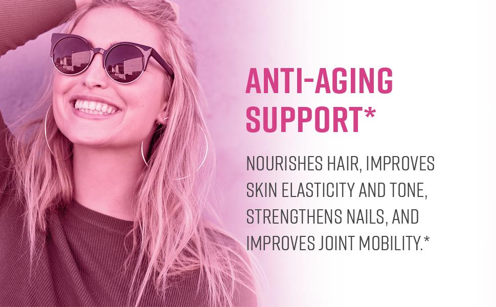 skin elasticity nourished hair nail strength