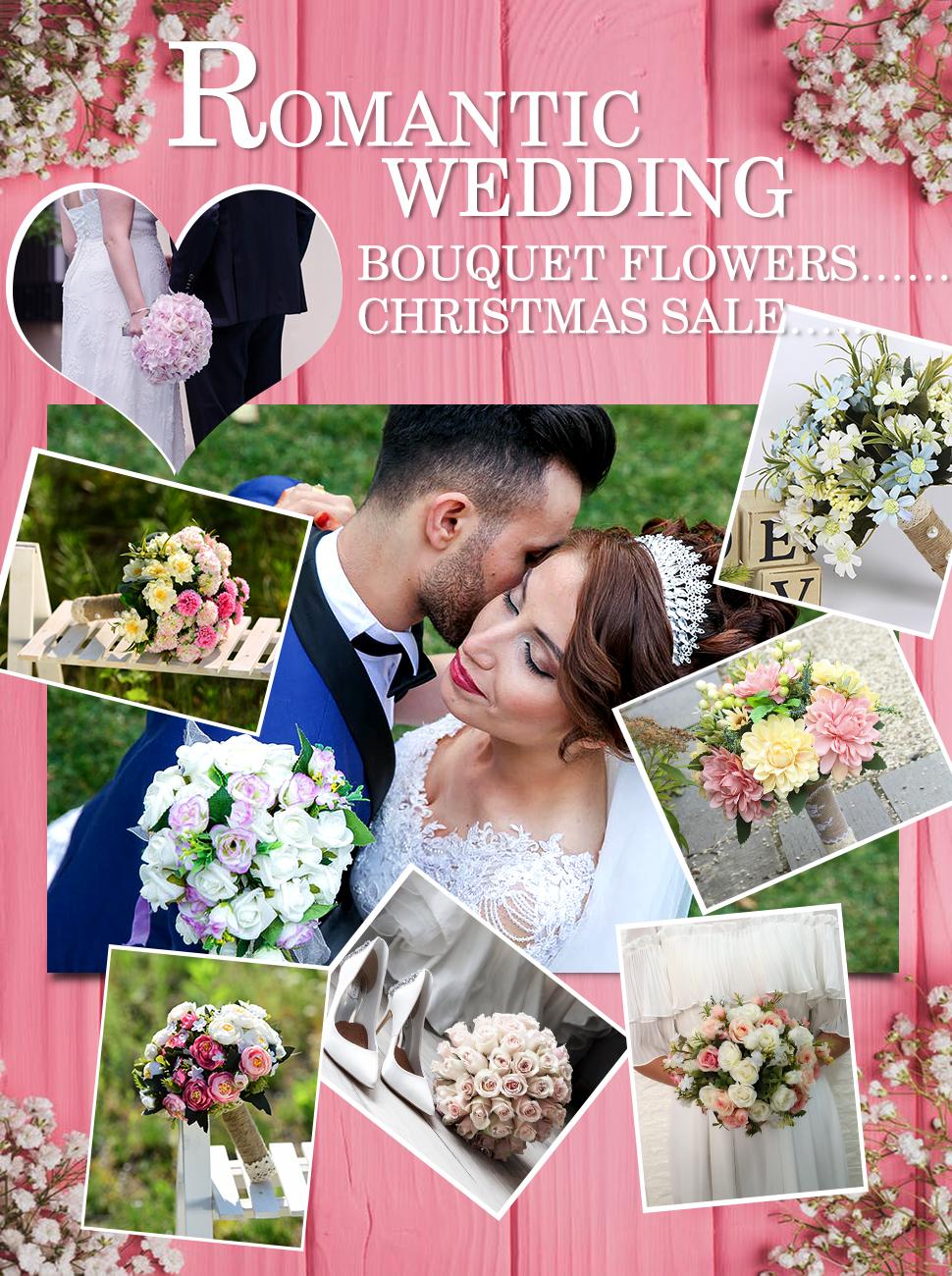 Amazon Yamuda Bridal Bridesmaid Flower Girls Wedding Bouquet