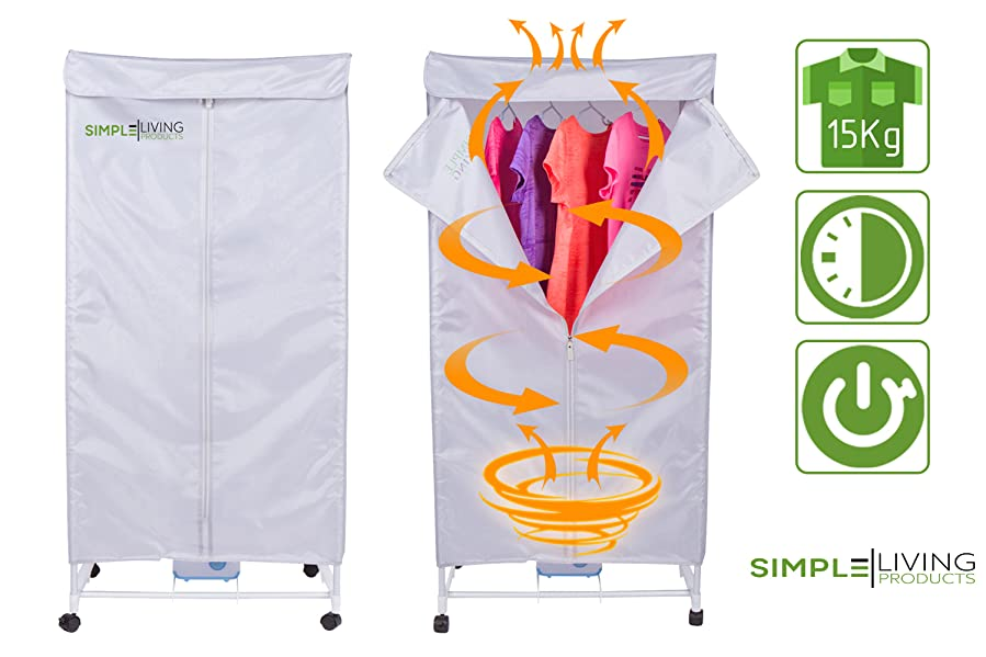 Simple Living Products 15Kg Portable Clothes Dryer