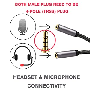 headphone mic splitter cable