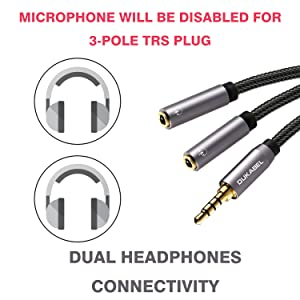 dual headphone splitter