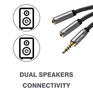 dual speaker splitter cable