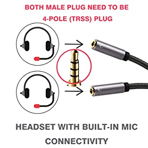 headsets splitter cable