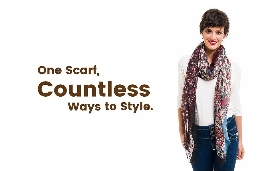 Paisley Pattern lightweight scarfs for women