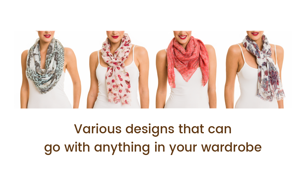 Lightweight women scarf, shawl, headscarf, wrap and infinity scarves