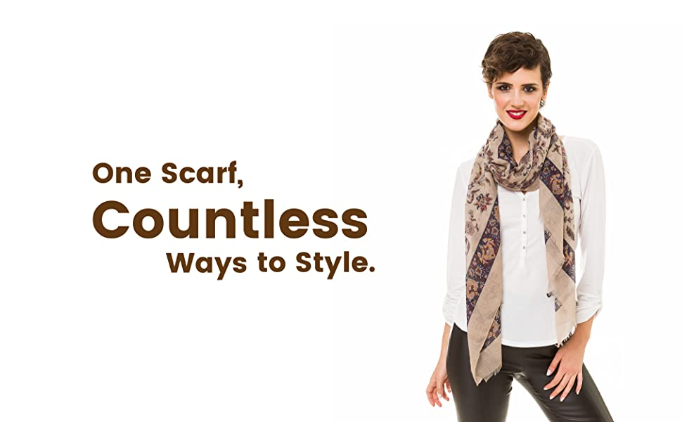 paisley lightweight scarfs for women