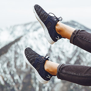 Hey Dude Womens Mistral Sneakers Black