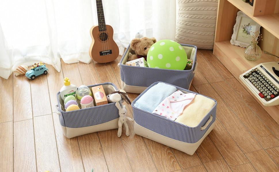 Amazon.com: TheWarmHome Basket for Dog Toy Storage,Blue