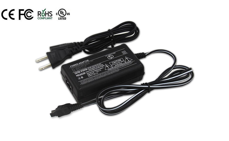 AC Power Adapter Charger for Handycam DCR-HC21, DCR-HC26, DCR-HC28, DCR-HC30, DCR-HC32, DCR-HC36, DCR-HC38, DCR-HC42, HC52, HDR-HC3, HDR-HC5, HDR-HC7, ...