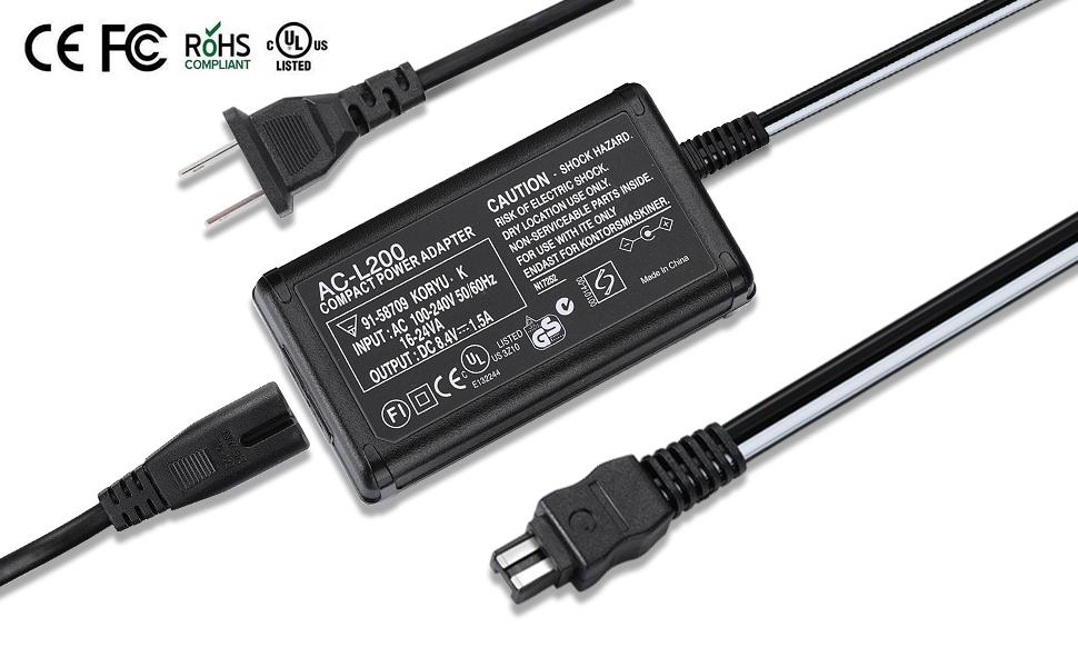 Amazon.com: ziqian AC Power Adapter Cargador y cable de US ...