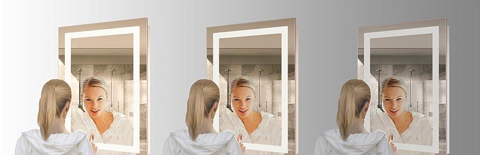 Amazon.com: Krugg LED Bathroom Mirror 24 Inch X 36 Inch