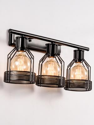 Amazon.com: 3 luces de tocador industrial, iluminación de ...