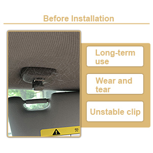 OEM Replacement 8E0857562A S5 RS5 Keenso Interior Sun Visor Clip Hook Bracket for Audi A3 A4 S4 A5 Q3 Q5 Quattro