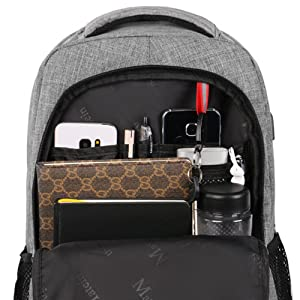 organized traval laptop backpack