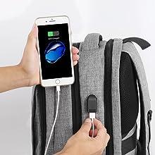 usb port backpack
