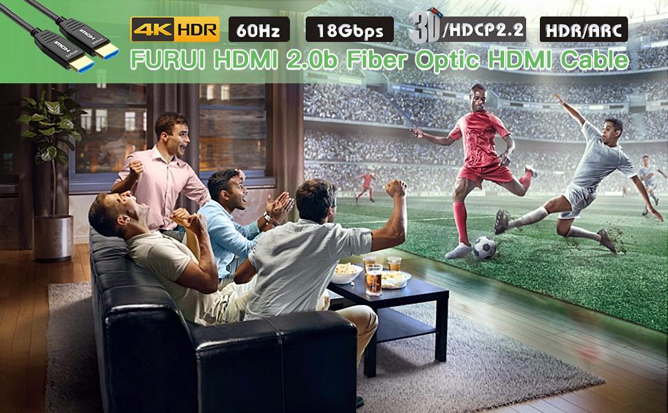 FURUI HFPRO NYLON BRAIDED FIBER HDMI 2.0b CABLE 4K HDR 60Hz