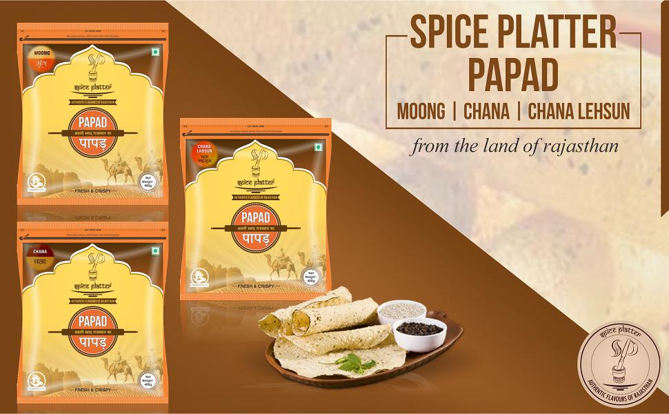 Papad, Spice Platter